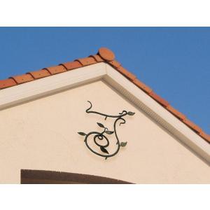 妻飾り 壁飾りアイアン妻飾り(03)アルファベット頭文字 完全オリジナル制作 シンボル アイアン壁飾り エクステリア 外壁工事 estoah