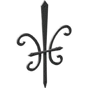妻飾り 壁飾り妻飾り 15型 シンボル アイアン風壁飾り アルミ鋳物 エクステリア 外壁工事|estoah