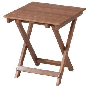 ガーデンテーブル 折りたたみテーブル カフェテーブル木製サイドテーブル幅350×高さ440mm ガーデニングテーブル 完成品|estoah