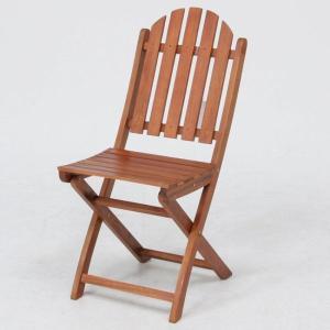 ガーデンチェア ベランダ椅子 折りたたみ椅子木製ガーデンチェアー幅390mm 2脚セット アカシア材使用 ガーデンファニチャー 完成品 estoah
