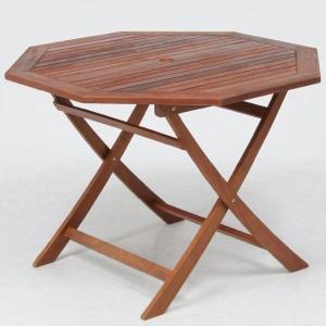 ガーデンテーブル 折りたたみテーブル カフェテーブル木製テーブル八角形天板直径1100mm ガーデニングテーブル 完成品耐|estoah