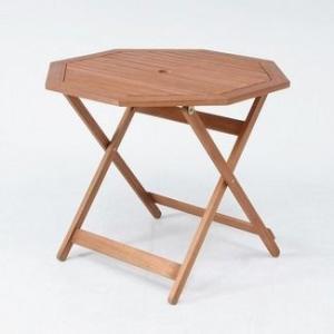 ガーデンテーブル 折りたたみテーブル カフェテーブル木製テーブル 八角形天板直径900mm ガーデニングテーブル アカシア材使用 完成品|estoah