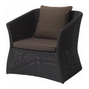 ガーデンチェアー 屋外用 Loom garden 庭座 シングルソファー クッション付き 完成品 estoah