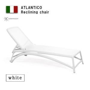 ガーデンチェア 折りたたみ椅子Nardi  アトランティコ リクライニングチェアー ホワイト 完成品|estoah