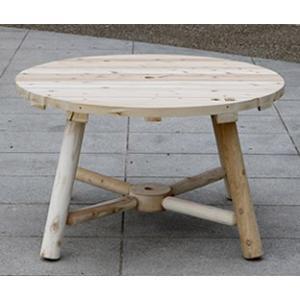 ガーデンテーブル 屋外用 ガーデンファニチャー 天然木 Cedar Looks ラウンドパラソルテーブル NO13A  代引き不可|estoah