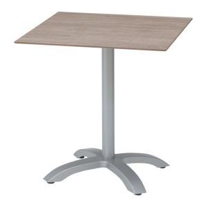 ガーデンテーブル 屋外用 テーブル プラスチック製 エコフィックス スクエアテーブル70 ムーングレー GRS-T08MG 組立式 机 庭|estoah