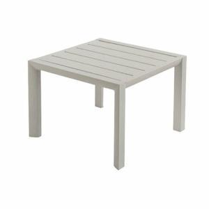 ガーデンテーブル 屋外用 テーブル フランス Grosfillex製 サンセットサイドテーブル ライトグレー GRS-T13LG 組立品 ベランダ ガーデン家具|estoah