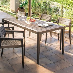 ガーデン テーブルセット 高級 木製 ミカド 5点セット 4人掛け チェア×4 テーブル×1 ガーデンテーブル ガーデンチェア 組立式 送料無料|estoah