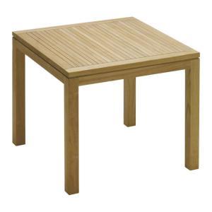 ガーデンテーブル 高級 木製 チーク材 イスタナ スクエア テーブル 80 幅80×奥行80×高さ71cm 組立式 ガーデン ベランダ 送料無料 estoah