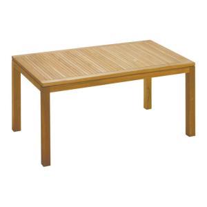 ガーデンテーブル 高級 チーク材 天然木 イスタナ ダイニング テーブル 140 幅140×奥行80×高さ71cm 組立式 ベランダ 送料無料 estoah