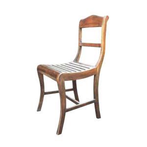 チェア ヨーロピアンチェア 1脚 完成品 ブラウン チーク モダン 椅子 室内向け 家具 インテリア|estoah