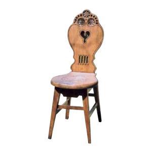 チェア メルヘンチェア 1脚 完成品 ブラウン マホガニー モダン 椅子 室内向け 家具 インテリア|estoah