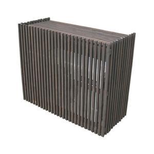 室外機カバー エアコン室外機カバー 木製ガーデン家具 モダンエアコンカバージャンボ1100×900×460mm ダークブラウン|estoah