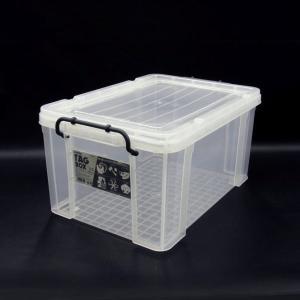 収納ボックス 収納ケース プラスチック製 タグボックス05 透明(クリア)収納箱 DIY、アウトドア用品などの整理に 重ね置き可能|estoah