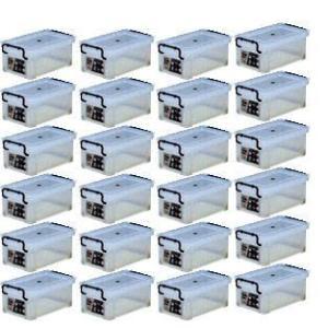 収納ボックス 収納ケース プラスチック製 タグボックス01 お買い得24個セット 透明(クリア) 収納箱で簡単整理 重ね置き可能|estoah