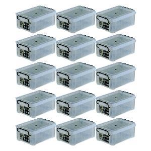 収納ボックス 収納ケース プラスチック製 タグボックス02 お買い得15個セット 透明(クリア) 収納箱で簡単整理 重ね置き可能|estoah