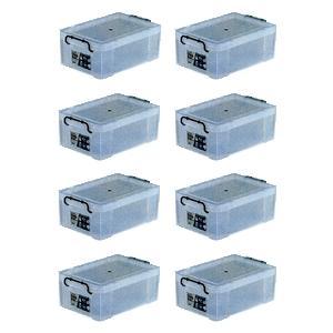 収納ボックス 収納ケース プラスチック製 タグボックス04 お買い得8個セット 透明(クリア) 収納箱で簡単整理 重ね置き可能|estoah