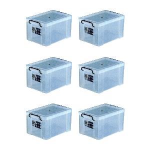 収納ボックス 収納ケース プラスチック製 タグボックス05 お買い得6個セット 透明(クリア) 収納箱で簡単整理 重ね置き可能|estoah