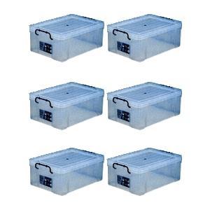 収納ボックス 収納ケース プラスチック製 タグボックス06 お買い得6個セット 透明(クリア) 収納箱で簡単整理 重ね置き可能|estoah