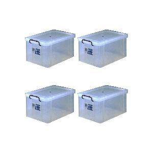 収納ボックス 収納ケース プラスチック製 タグボックス07 お買い得4個セット 透明(クリア) 収納箱で簡単整理 重ね置き可能|estoah