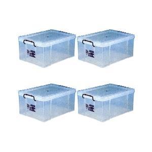 収納ボックス 収納ケース プラスチック製 タグボックス08 お買い得4個セット 透明(クリア) 収納箱で簡単整理 重ね置き可能|estoah
