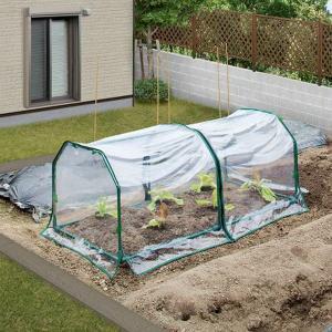 温室 ビニールハウス ミニ温室 自転車置き場 ガーデニング 家庭用 自宅 家庭菜園 野菜 花 ベジタブル温室セットS|estoah