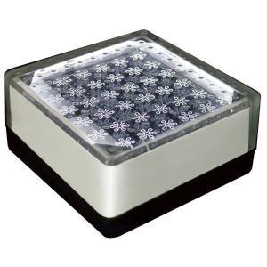 ソーラーライト LED 照明 埋込 駐車場 ライト 外灯 角型 TI2-SB100FWH ホワイト アプローチライト 誘導灯 照明器具 おしゃれ|estoah