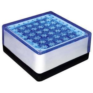 ソーラーライト LED 照明 埋込 駐車場 ライト 外灯 角型 TI2-SB100FBL ブルー アプローチライト 誘導灯 照明器具 おしゃれ|estoah
