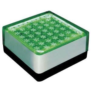ソーラーライト LED 照明 埋込 駐車場 ライト 外灯 角型 TI2-SB100FGR グリーン アプローチライト 誘導灯 照明器具 おしゃれ|estoah