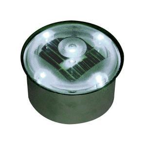ソーラーライト LED 照明 埋込 駐車場 ライト 外灯 丸型 TI2 SB80RWH ホワイト アプローチライト 誘導灯 照明器具 おしゃれ|estoah