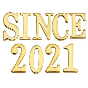 表札 真鍮 切 文字 戸建 表札 30シリーズ SINCE2018 セット 商品 シンプル サインプレート ネームプレート 店舗 看板 屋外 外構|estoah