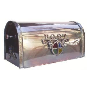 ポスト 郵便受け スタンドタイプ郵便ポスト デザインポスト シャイングラス銅製アメリカンポスト スタンド  レトロ|estoah