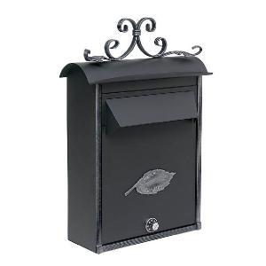 ポスト 郵便受け 壁掛け郵便ポスト デザインポスト 鍵付き 鍵付メールボックス350 アイアン 壁掛け  レトロスタイル|estoah