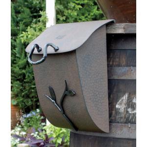 ポスト 郵便受け 壁掛け郵便ポスト デザインポスト 鍵付き ブランチポスト2型 アイアン飾り  レトロスタイル|estoah