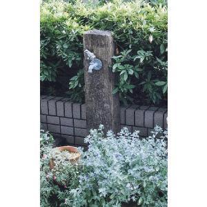 立水栓 水栓柱 ガーデニング 木製枕木立水栓(青銅色蛇口付き) 水回り ガーデン水栓柱 DIY estoah