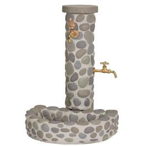立水栓 水栓柱 ガーデニングガーデンブリンク立水栓 リバーストーンタイプ 水回り ガーデン水栓柱 DIY estoah