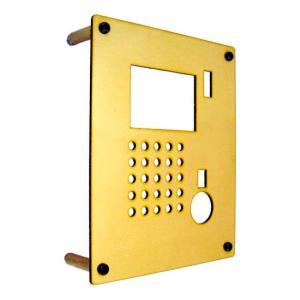 インターホンカバー 真鍮 モダンスタイル インターフォン カバー 真鍮 装飾 エクステリア 手作り|estoah