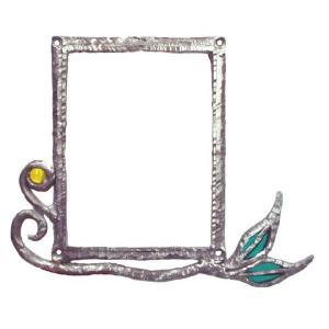 インターホンカバー ハンドメイド インターフォン カバー リーフ 装飾 エクステリア 手作り ガラス|estoah