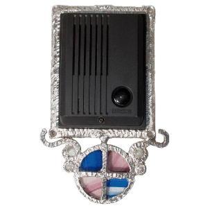 インターホンカバー ハンドメイド インターフォン カバー ベネチアン 装飾  エクステリア 手作り ガラス|estoah
