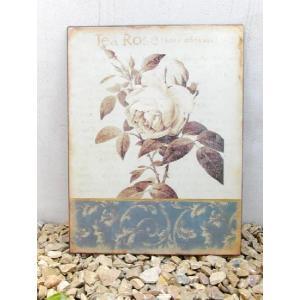ガーデニング雑貨 アンティーク風雑貨 プレートオブジェ ガーデンプレート(TeaRose) 壁飾り|estoah