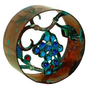 ブロック 塀 壁飾り飾りブロック シャインガラス銅製丸型ラウンド190(ブドウ)  外壁 外構工事|estoah