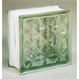 ブロックガラス 塀 壁飾りガラスブロック ダイヤモンドー95(JB2-19507)クリア6個入り  外壁 外構工事|estoah