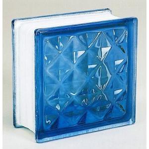 ブロックガラス 塀 壁飾りガラスブロック ダイヤモンドー95(JB2-19508)ライトブルー6個入り  外壁 外構工事|estoah