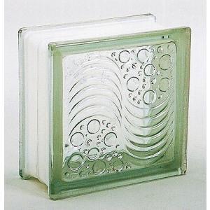 ブロックガラス 塀 壁飾りガラスブロック オーシャンビューー95(JB2-19504)クリア6個入り  外壁 外構工事|estoah
