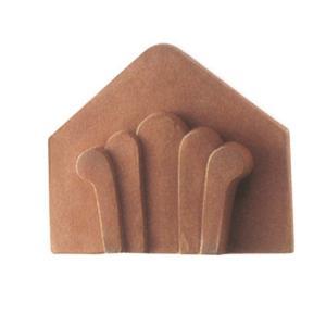 ブロック 塀 壁飾り 瓦洋風塀瓦セレ・ビーバー型、デコラ型(JR2-TOMA)止瓦A タイル・レンガ 外壁 外構工事|estoah