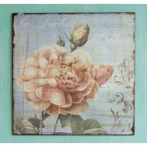 ガーデニング雑貨 アンティーク風雑貨 プレートオブジェ ガーデンプレート(ROSY) 壁飾り|estoah