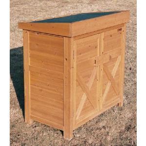 物置 木製物置 屋外用 木製物置 ガーデンストア0906 天然木材物置収納 ガーデニンググッズ ガーデンファニチャー|estoah