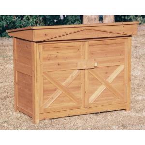 物置 木製物置 屋外用 木製物置 ガーデンストア1308 天然木材物置収納 ガーデニンググッズ ガーデンファニチャー|estoah
