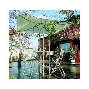 ガーデンテーブル カフェテーブル アンブレラ付きハイテーブル ガーデニングテーブル ガーデンファニチャー|estoah