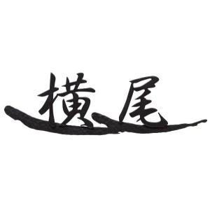 アイアン漢字表札 【NA1-S61BM】 レーザーカット オリジナルハンドメイドサイン